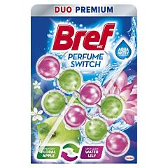 Odorizant toaleta Bref Perfume Switch Water Lily&Apple, 2x50g