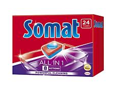 Detergent pentru masina de spalat vase Somat All in one, 24 tablete