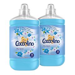 Balsam de rufe Coccolino Blue Splash, 2 x 72 spalari, 2 x 1.8 L