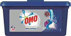 Detergent automat capsule Omo Ultimate Trio Caps Active Clean, 30spalari, 30bucati