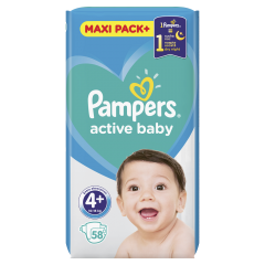 Scutece Pampers Active Baby Maxi Pack, nr.4+, 10-15kg, 58bucati