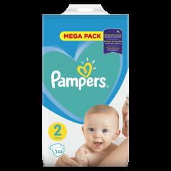 Scutece Pampers New Baby Mega Pack, nr.2, 4-8kg, 144bucati
