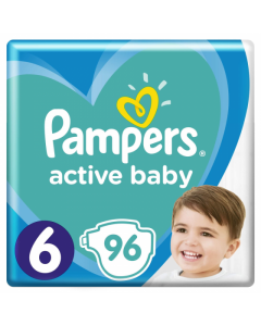 Scutece Pampers Active Baby Mega Box, Marimea 6, 13 -18 kg, 96 buc