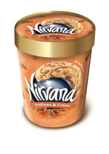 Inghetata cu aroma de caramel si nuci Nirvana 650g