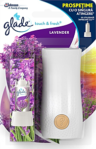 Aparat odorizant baie Touch&Fresh Lavender, Glade 10ml