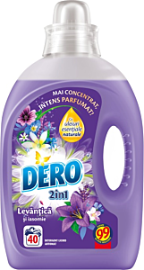 Detergent automat lichid Dero 2in1 Lavanda, 40 spalari, 2l
