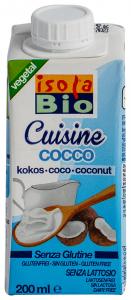 Crema din nuca de cocos pentru gatit ecologica Isola Cuisine Cocco 200ml