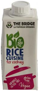 Crema vegetala ecologica din orez pentru gatit The Bridge 200ml