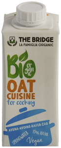 Crema vegetala ecologica din ovaz pentru gatit The Bridge 200ml