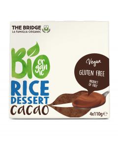 Desert Bio cu orez si ciocolata The Bridge 4x110g