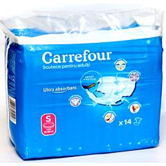 Scutece deschise incontinenta adulti marimea S Carrefour, 14buc