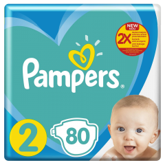 Scutece Pampers New Baby Maxi Pack, nr.2, 4-8kg, 80bucati