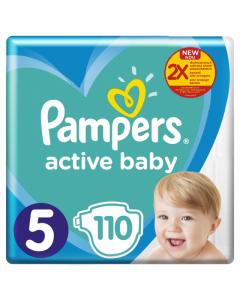 Scutece Pampers Active Baby Mega Pack, nr.5, 11-16kg, 110bucati