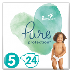 Scutece Pampers Pure Protection S5 11-16 kg 24 buc