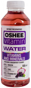 Apa cu vitamine si aroma de struguri rosii si fructul dragonului Oshee 0.555l