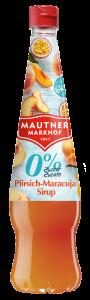 Sirop de piersici si maracuja cu indulcitori Mautner Markhof 700ml