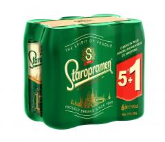 Bere Staropramen 6x0.5L (5+1)