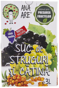 Suc de struguri si catina 100% natural Ana Are 3L