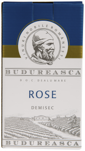 Vin rose demisec DOC Dealul Mare Budureasca 2L