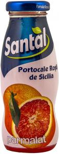 Bautura racoritoare necarbogazoasa din portocale rosii de Sicilia Santal 200ml