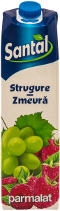 Suc de strugure si zmeura Santal 1000 ml