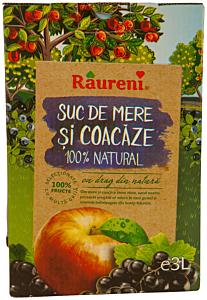 Suc de mere si coacaze Raureni 3l