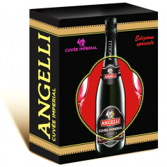 Pachet Vin Spumant Cuvee Imperial Angelli + 2 Pahare