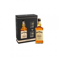 Pachet whisky Jack Daniel's Honey 0.7l si 2pahare