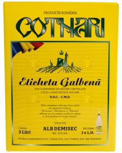 Vin alb Cotnari Eticheta Galbena DOC 3L