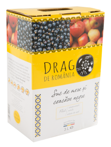 Suc natural de mere si coacaze Drag de Romania 3L