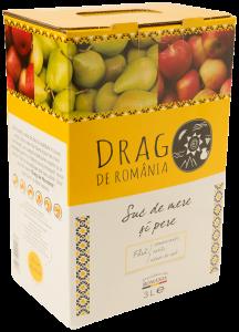 Suc natural de mere si pere Drag de Romania 3L