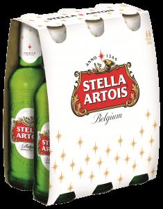 Bere blonda Stella Artois 6x0.33 L