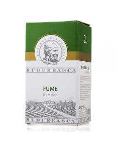 Vin alb demisec 13,5% alcool Fume bag in box Budureasca 2l