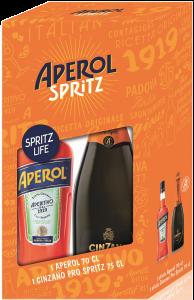 Pachet Aperol si Cinzano Spritz 0.75l