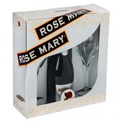 Pachet vin spumant Rose Mary 0,75l si 2 pahare cadou