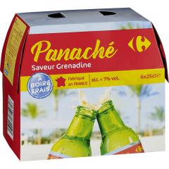 Bere Panache cu aroma de grenadina Carrefour 6x0.25l