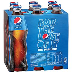 Bautura racoritoare carbogazoasa Pepsi Cola 6x0.30l