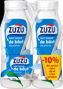 Iaurt de baut 2% Zuzu 2x320G