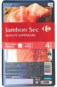Jambon uscat Carrefour 100g