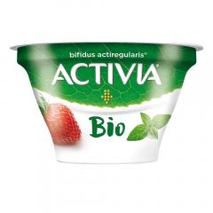 Iaurt cu capsuni si busuioc Bio Activia 150g