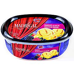 Inghetata cu aroma vanilie si sos fructe de padure Madrigal 1L