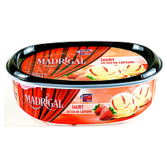Inghetata cu iaurt si sos de capsuni Madrigal 2L