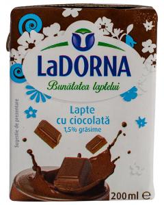 Lapte cu ciocolata 1.5% grasime LaDorna 200ml