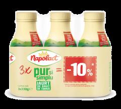 Iaurt de baut bio 2,8% grasime 3x330gr Napolact