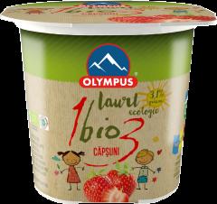 Iaurt bio cu capsuni 100g Olympus