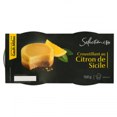 Desert cu suc de lamaie Carrefour Selection set 2bucatix80g