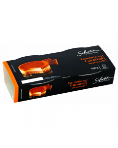 Tarta cu caramel Carrefour Selection set 2bucatix80g