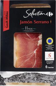 Jambon Serrano Consorcio 80g Carrefour