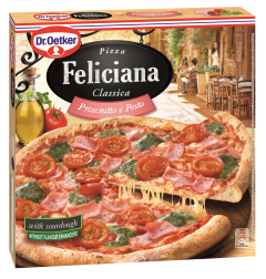 Pizza cu sunca si sos pesto verde Feliciana 360g