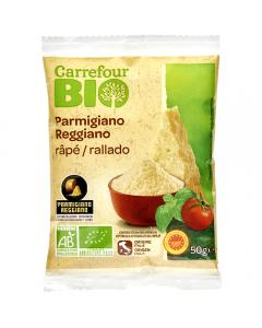 Parmigiano Regianno Bio lapte crud Carrefour Bio 50g
